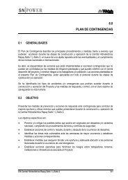 8.0 PLAN DE CONTINGENCIAS - Ministerio de Energía y Minas