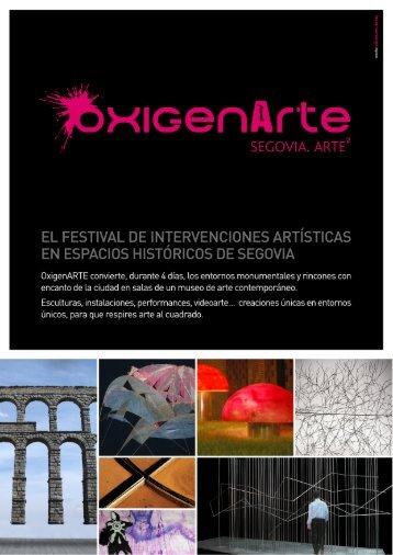 Programa Oxigenarte - Segovia 2016