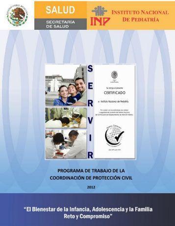 Programa de Trabajo de Protección Civil - Instituto Nacional de ...