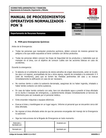 MANUAL DE PROCEDIMIENTOS OPERATIVOS NORMALIZADOS ...