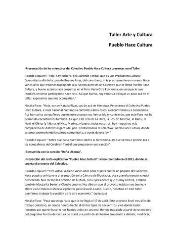 2012 Taller Arte y Cultura Final