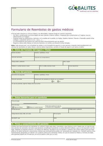 Formulario de Reembolso de gastos médicos - GLOBALITY