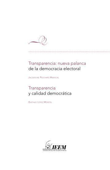 Transparencia: nueva palanca de la democracia electoral - Instituto ...