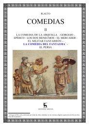 Plauto, Tito Macio - Comedias II - 7 - El fantasma - Historia Antigua