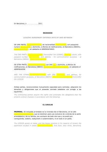 Contrato Alquiler Con Muebles Ariza Administraciones
