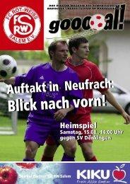 Ausgabe zum 15.08.2009 pdf-Datei, 3 MB - beim FC Rot-Weiß Salem!
