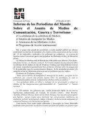 Informe de los Periodistas del Mundo Sobre el Asunto de Medios de ...