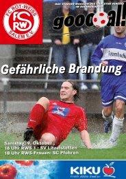 Ausgabe zum 09.10.2010 pdf-Datei, 3 MB - beim FC Rot-Weiß Salem!
