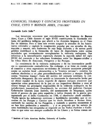 COMERCIO, TR/1BA]O Y CONTACTO FRONTERIZO EN