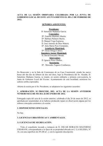 Archivo Adjunto - Ayuntamiento de Benavente