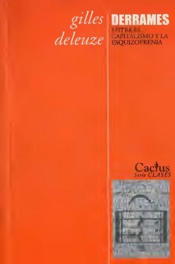 Derrames entre el capitalismo y la esquizofrenia - Documento sin título
