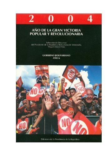 """2004 """"año de la gran victoria popular y revolucionaria"""""""