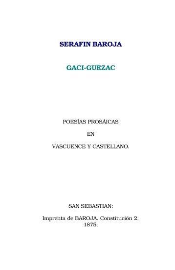 SERAFIN BAROJA GACI-GUEZAC - Euskaraz.net