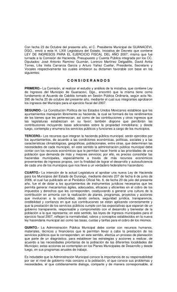 309 - Congreso del Estado de Durango