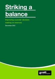 Striking a balance - Improving councils' decision ... - Audit Commission