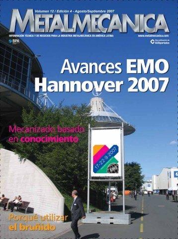 Volumen 12 / Edición 4 - Agosto/Septiembre 2007 - Metalmecánica