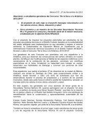 México D.F., 27 de Noviembre de 2012 Abanderan a estudiantes ...