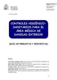 controles higiénico sanitarios para el área médica de sanidad exterior