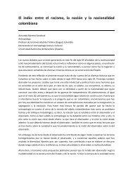 El indio: entre el racismo, la nación y la nacionalidad colombiana