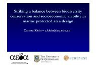 Striking a balance between biodiversity conservation and ...