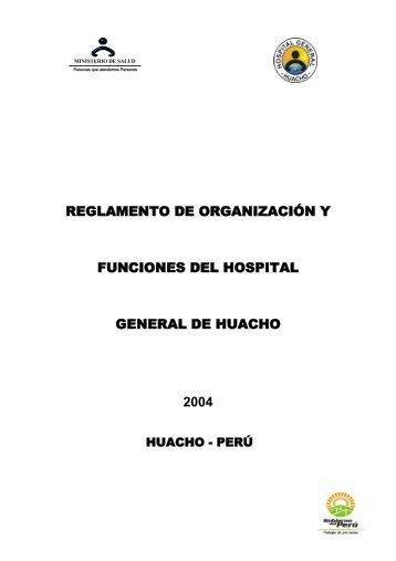 rof del hospital regional de huacho 2004 - Hospital General de ...