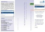 Flyer WebCT 6 - Hochschulrechenzentrum