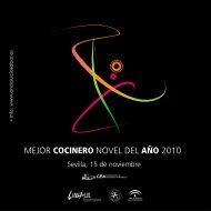 Programa Concurso Mejor Cocinero Novel del Año ... - El Aderezo
