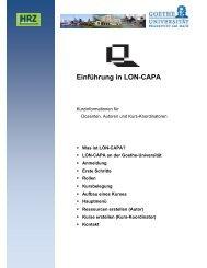 Einführung in LON-CAPA - Goethe-Universität