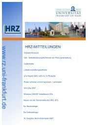 hrz-mitteilungen - Hochschulrechenzentrum - Goethe-Universität