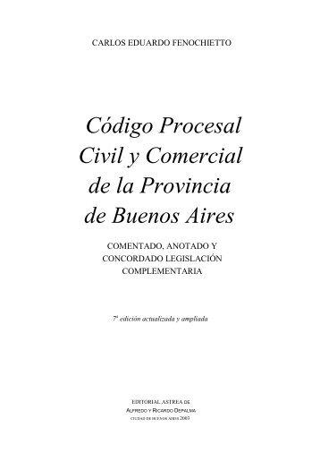 Codigo Procesal Civil y Comercial de Bs As