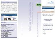 WebCT CE 6 Flyer - Hochschulrechenzentrum