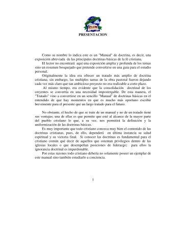 """Manual"" de doctrina - Iglesia de Restauracion Elim"