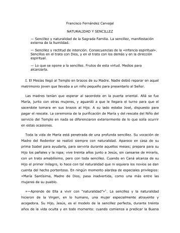 Francisco Fernández Carvajal NATURALIDAD Y ... - Homiletica.org