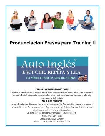 Curso Superior de Pronunciación - Auto Inglés