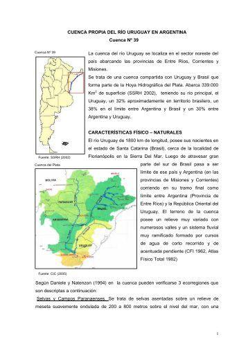 39 cuenca propia del rio uruguay en argentina - Subsecretaría de ...