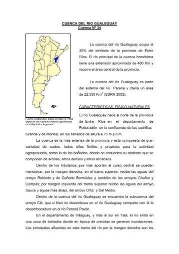 34 cuenca del rio gualeguay - Subsecretaría de Recursos Hídricos