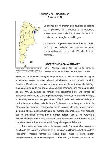 43 La cuenca del río Miriñay - Subsecretaría de Recursos Hídricos