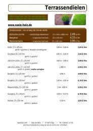 Terrassendielen - Saale Holz oHG