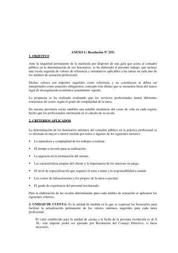ANEXO I - Consejo Profesional de Ciencias Económicas de Río Negro
