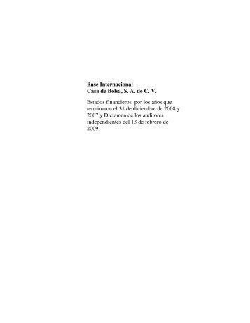 Notas a los Estados Financieros 2008 - Banco BASE