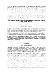 reglamento de hacienda publica municipal - San Juan de los Lagos