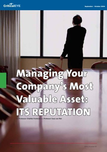 Managing Your Company's Most Valuable Asset - Rotterdam School ...