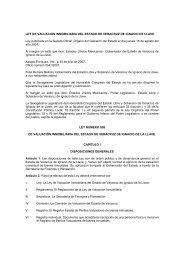 LEY DE VALUACION INMOBILIARIA DEL ESTADO DE VERACRUZ ...