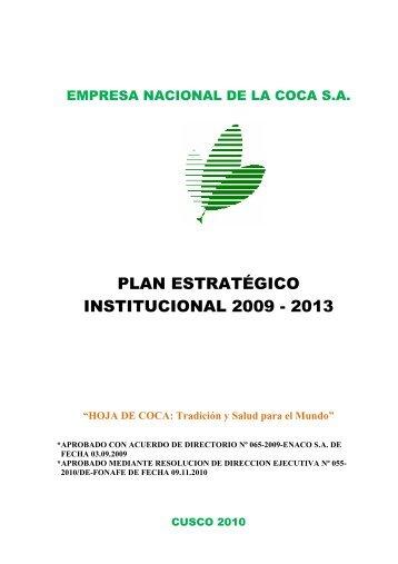 Plan Estratégico Institucional - Enaco SA