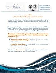 Información del curso MFE - Actum