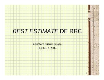 Best Estimate de Riesgos en Curso