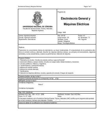 Electrotecnia General y Máquinas Eléctricas - Escuela de Ingeniería ...