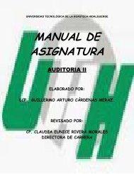 MANUAL DE ASIGNATURA - Biblioteca UTHH
