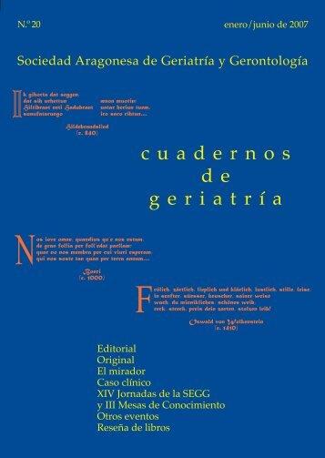 Numero 20 Cuadernos de Geriatria.pdf - sociedad aragonesa de ...