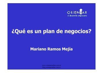 Presentación: ¿Que es un Plan de Negocios?, por - PlanUBA